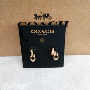 "Coach Authentic Signature ""C"" Earrings"